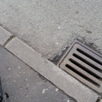 Dangerous Drains on Wilmslow Road could easily dismount a cyclist on a road bike